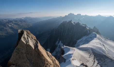 The view from Aiguille du Midi cable car station, 3842m