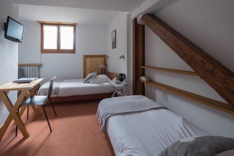 Our room at Hotel de la Couronne, Argentiere