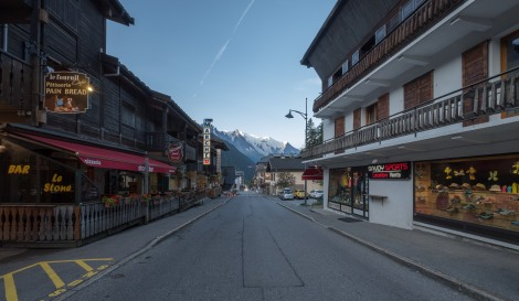 The main street in Argentiere
