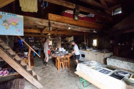 Inside the farmhouse of Alp Bovine