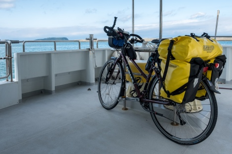 My bike on the ferry between Ibusuki and Nejime