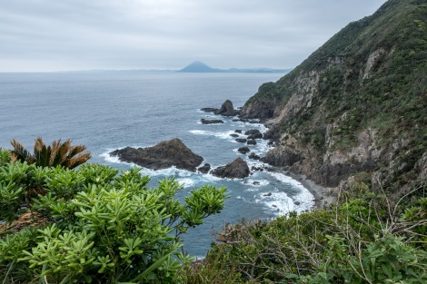 View of Kaimon-dake Peak from Cape Sata