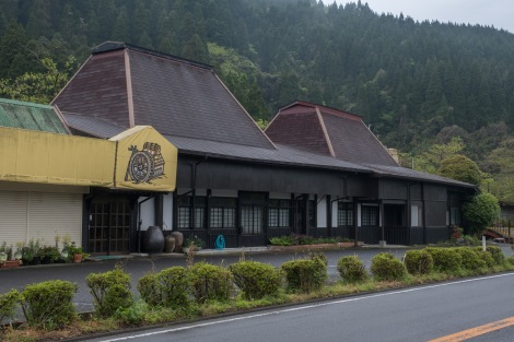 Traditional-style roadside teahouse