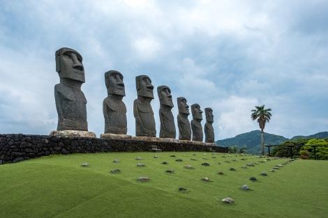 Moai statues at Sunmesse, Nichinan
