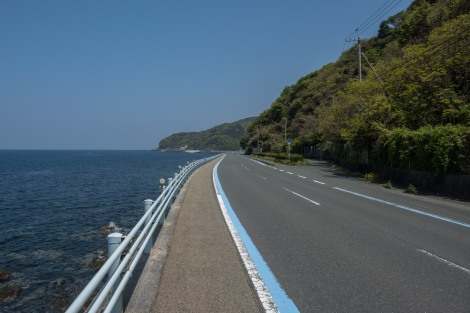 The excellent coastal road, Route 378