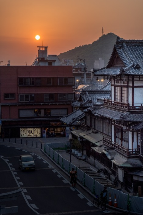 Dogo Onsen at sunset, Matsuyama