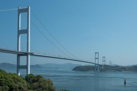 Kurushima-kaikyo bridge (4,105m), the first of many bridges I'll be crossing on the Shimanami Kaido cycle path between Shikoku and Honshu