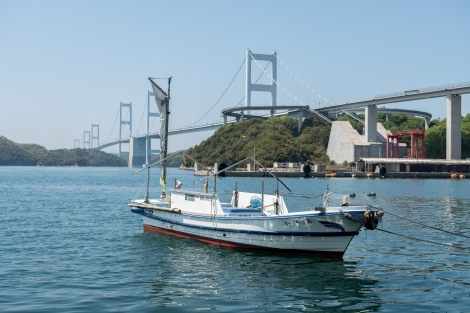A boat in Shitadami port