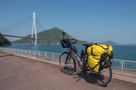 Momiji on the Shimanami Kaido cycling path