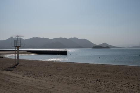 Setoda sunset beach on Ikuchijima island