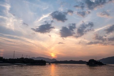 Sunset view from Innoshima Amenity Park on Innoshima island