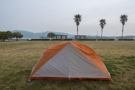 Camping on Innoshima island