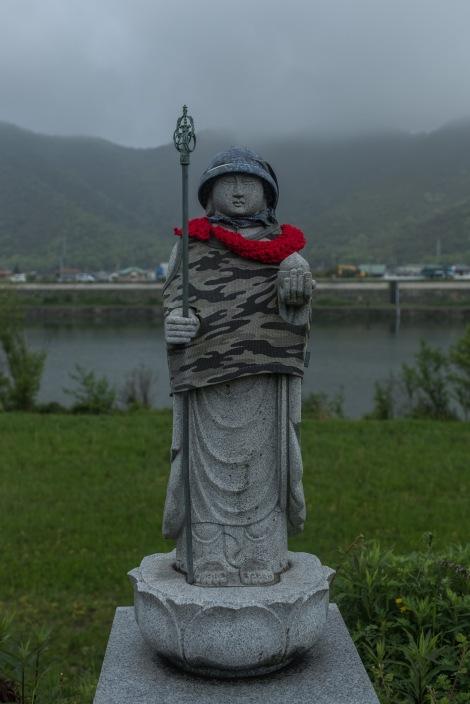 A Jizo statue in the mist