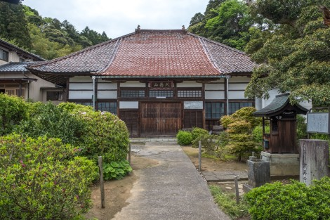 Buddhist temple with an interesting shaped roof