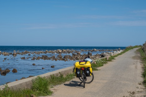 It's a stunning day to be cycling around the Noto Peninsula today!