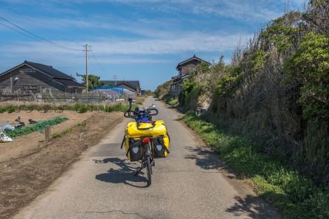 Cycling through rural areas near the sea
