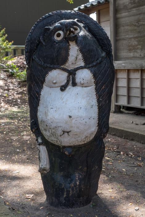 A large Tanuki at a nearby shrine