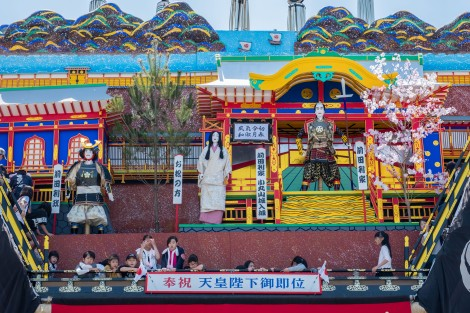 One of the three Hikiyama floats in the Seihakusai festival in Nanao city