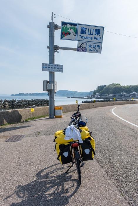 Entering Toyama Prefecture