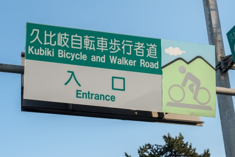 Kubiki Bicycle and walker road - this was an excellent cycle path and I was flying!!