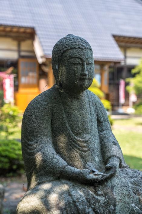 A Buddhist statue at Kaichoji Temple, Ogi, Sado Island