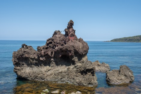A sacred rock island