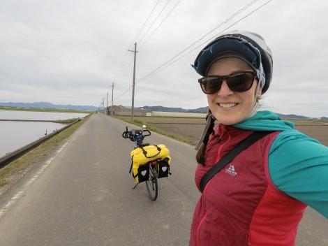 GoPro selfie in the middle of fields