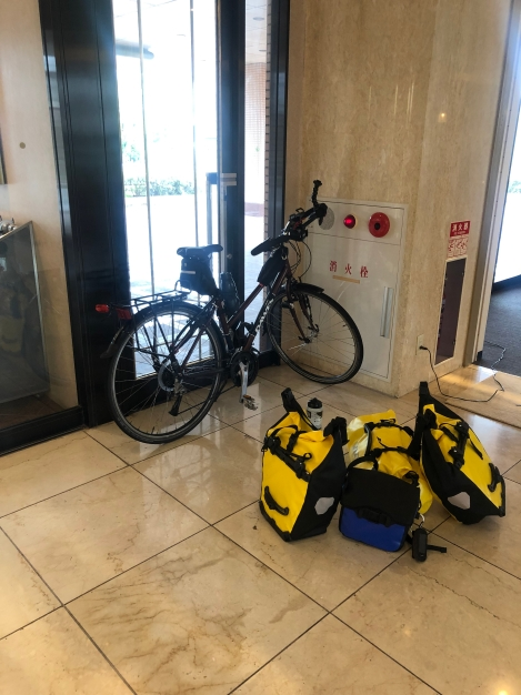The hotel allowed me to bring my bike into the foyer overnight