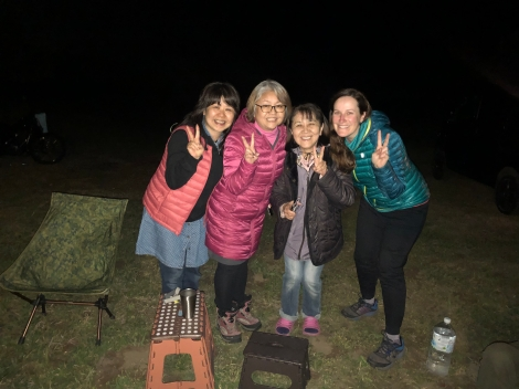 I met these people (and their three husbands) where I was camped and they invited me over to their campfire and we drank whisky and had a great time!