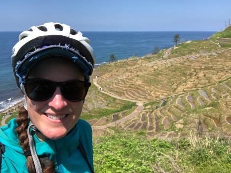 Selfie at Senmaida rice paddies