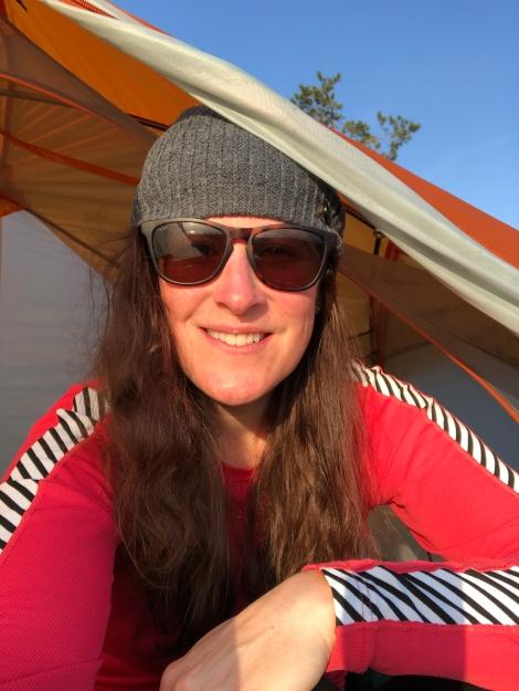 Sunrise tent selfie
