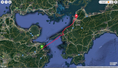 Jb11 - google map from Garmin Connect