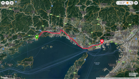 Jb16 - google map from Garmin Connect