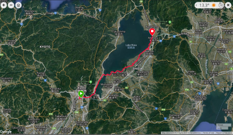 Jb19 - google map from Garmin Connect