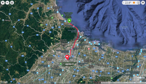 Jb27 - google map from Garmin Connect