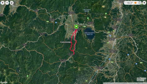 Jb37 - google map from Garmin Connect