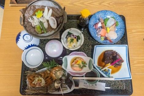 Dinner at Minshuku Shitamichisou