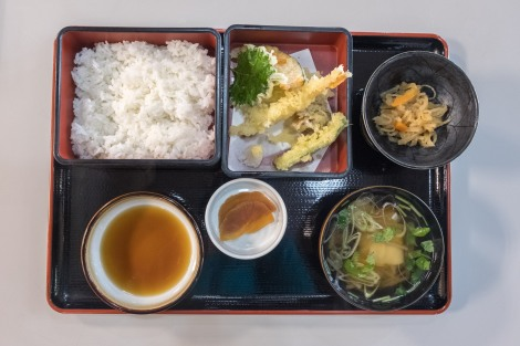 I had this delicious tempura set meal for lunch at the Tono Furusato Village