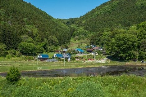 Beautiful rural landscapes in Iwate Prefecture