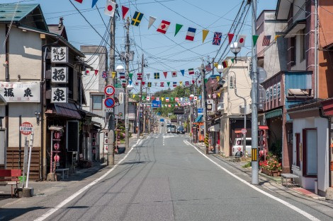 Tsuchizawa main street, Iwate Prefecture