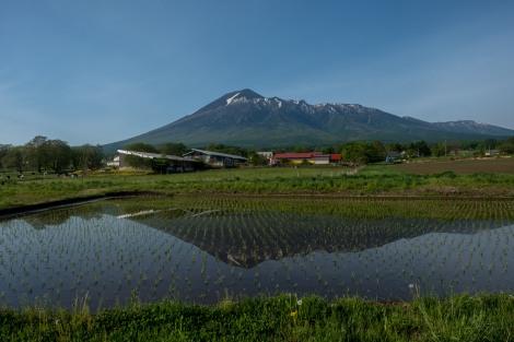 Mt Hachimantai rice paddy reflections