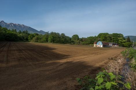 Farming land at the base of Mt Hachimantai