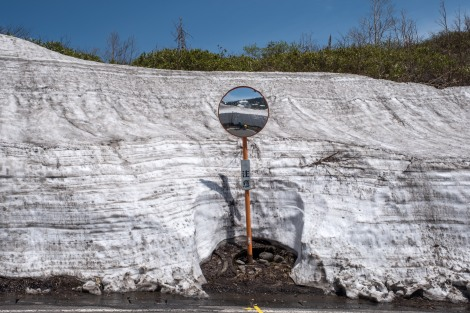 There's still so much snow up here on the Hachimantai Jukai line (Route 318).