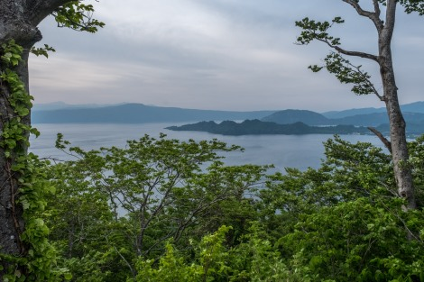 After an almighty descent and quite a few hours later, I finally reach Lake Towada