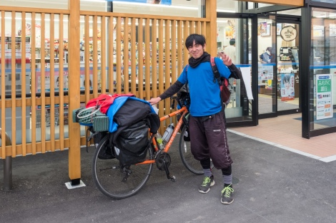 This is Yamashita-san, he's been cycle touring around Japan for over a year already and had heaps of great tips for me, thanks!