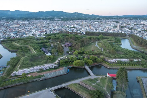 Goryokaku - a star-shaped fort in Hakodate built by the Tokugawa Shogunate