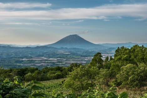 Mt Yotei (also known as Ezo Fuji due to its resemblance of Mt Fuji - Ezo is the old name for Hokkaido)