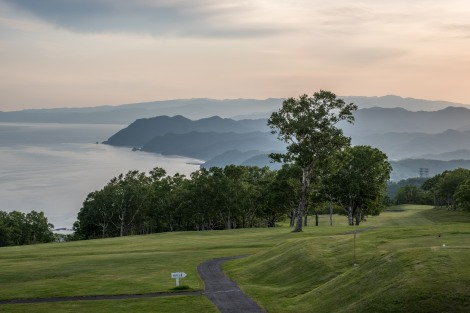 The Hotel Windsor golf course overlooking Lake Toya