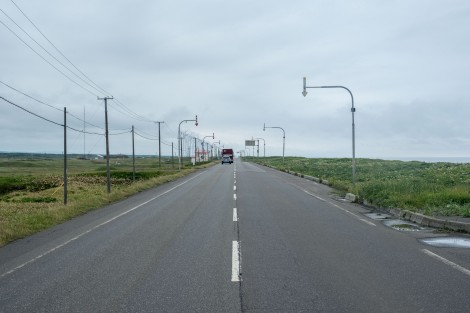 Long straight roads to Wakkanai