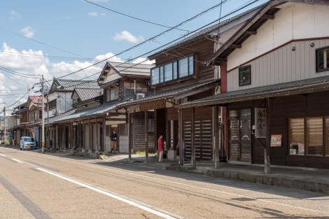 The old town of Tsugawa - this is where Isabella Bird boarded the sailing boat on the Agano River to Niigata in 1878